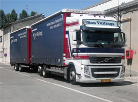 Ron Vullings transport vrachtwagen in Italië